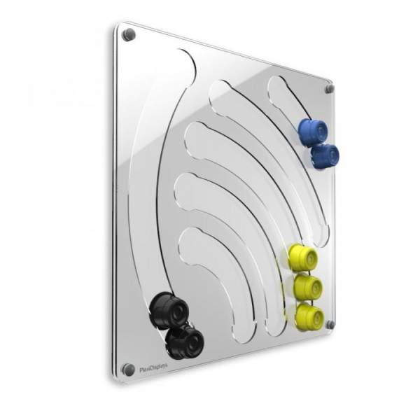 Plexidisplays 1105002 Wand-Kapselhalter für Cafissimo-Kapseln Transparent