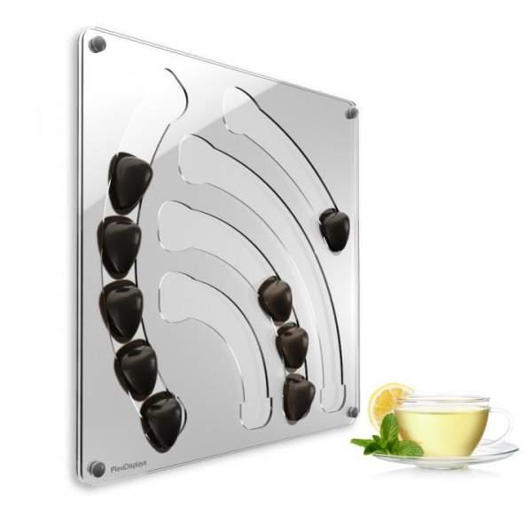 Special T Kapselhalter Design Wasserfall, hochwertiges Plexiglas